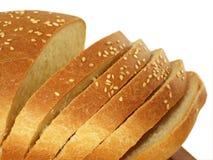 Pão branco cortado Fotografia de Stock