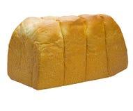 Pão branco inteiro em um fundo branco Fotos de Stock Royalty Free