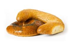 Pão branco isolado Fotos de Stock