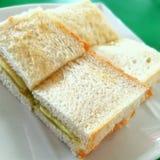 Pão brindado com Kaya e manteiga fotografia de stock