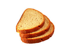 Pão brindado em um fundo branco Imagem de Stock