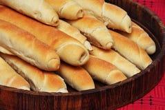Pão caseiro apetitoso imagens de stock