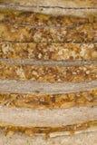 Pão caseiro, cortado Imagens de Stock