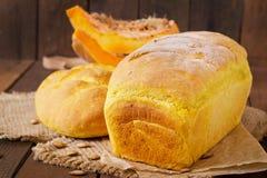 Pão caseiro fresco da abóbora Fotografia de Stock