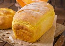 Pão caseiro fresco da abóbora Fotos de Stock