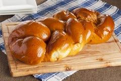 Pão caseiro fresco do Chalá imagem de stock