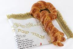 Pão chave do Chalá da forma Fotografia de Stock