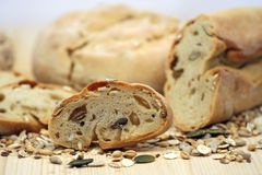 Pão, colheitas e sementes Foto de Stock