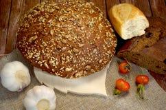 Pão com alho Fotografia de Stock