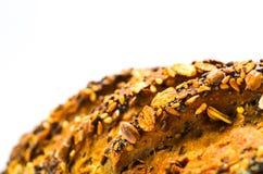 Pão com as sementes no fundo branco imagem de stock royalty free