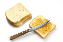 Pão com atolamento Imagem de Stock Royalty Free