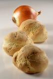 Pão com onions_3 Imagem de Stock Royalty Free