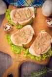 Pão com pasta Fotografia de Stock Royalty Free