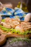 Pão com pasta Foto de Stock Royalty Free