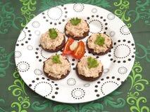 Pão com peixes de atum Imagem de Stock Royalty Free