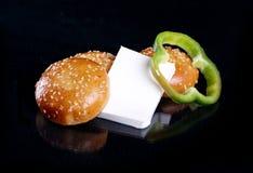 Pão com queijo Fotos de Stock Royalty Free
