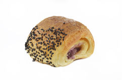 Pão com sésamo preto Fotos de Stock