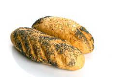 Pão com sementes de papoila imagens de stock royalty free