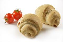 Pão com tomate Imagem de Stock Royalty Free