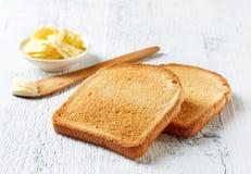 Pão cortado do brinde imagens de stock