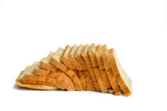 Pão cortado do trigo Isolado no branco Foto de Stock