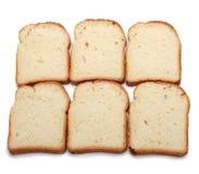 Pão cortado isolado no branco imagem de stock royalty free