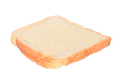 Pão cortado isolado no branco Fotos de Stock Royalty Free