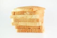 Pão cortado no branco Fotos de Stock Royalty Free