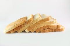 Pão cortado no branco Imagem de Stock Royalty Free