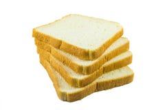 Pão cortado no fundo branco Foto de Stock Royalty Free