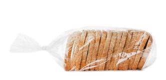 Pão cortado no saco de plástico imagem de stock