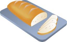 Pão cozido cortado ilustração do vetor