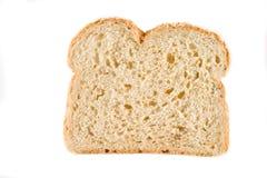 Pão cozido fresco cortado isolado sobre o backg branco Fotografia de Stock Royalty Free