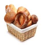 Pão cozido isolado no branco fotografia de stock royalty free