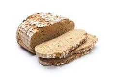 Pão da farinha de centeio isolada no fundo branco Imagem de Stock