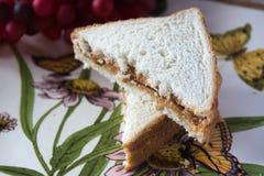Pão da manteiga de amendoim Imagem de Stock