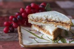Pão da manteiga de amendoim Imagens de Stock