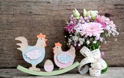 Pão da Páscoa e ovos da páscoa, festival da Páscoa, decoração em dias da Páscoa Fotos de Stock Royalty Free