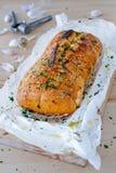 Pão de alho caseiro Fotografia de Stock