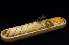 Pão de alho com mergulho Imagens de Stock