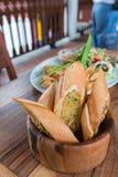 Pão de alho delicioso foto de stock