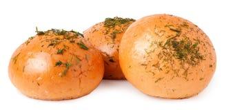Pão de alho isolado no branco fotografia de stock