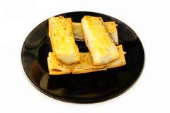 Pão de alho na placa Fotografia de Stock Royalty Free