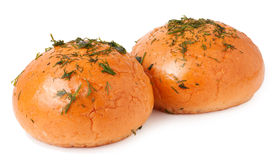 Pão de alho no branco imagens de stock royalty free