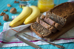 Pão de banana Fotografia de Stock