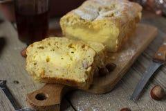 Pão de banana caseiro Fotografia de Stock Royalty Free