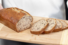 Pão de banana cortado Imagem de Stock