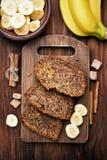 Pão de banana cortado Fotos de Stock