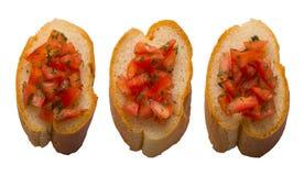 Pão de Bruschetta Fotografia de Stock