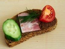 Pão de centeio do sanduíche Fotos de Stock Royalty Free